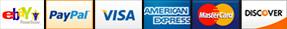 Visa, MasterCard, Amex, PayPal, Discover