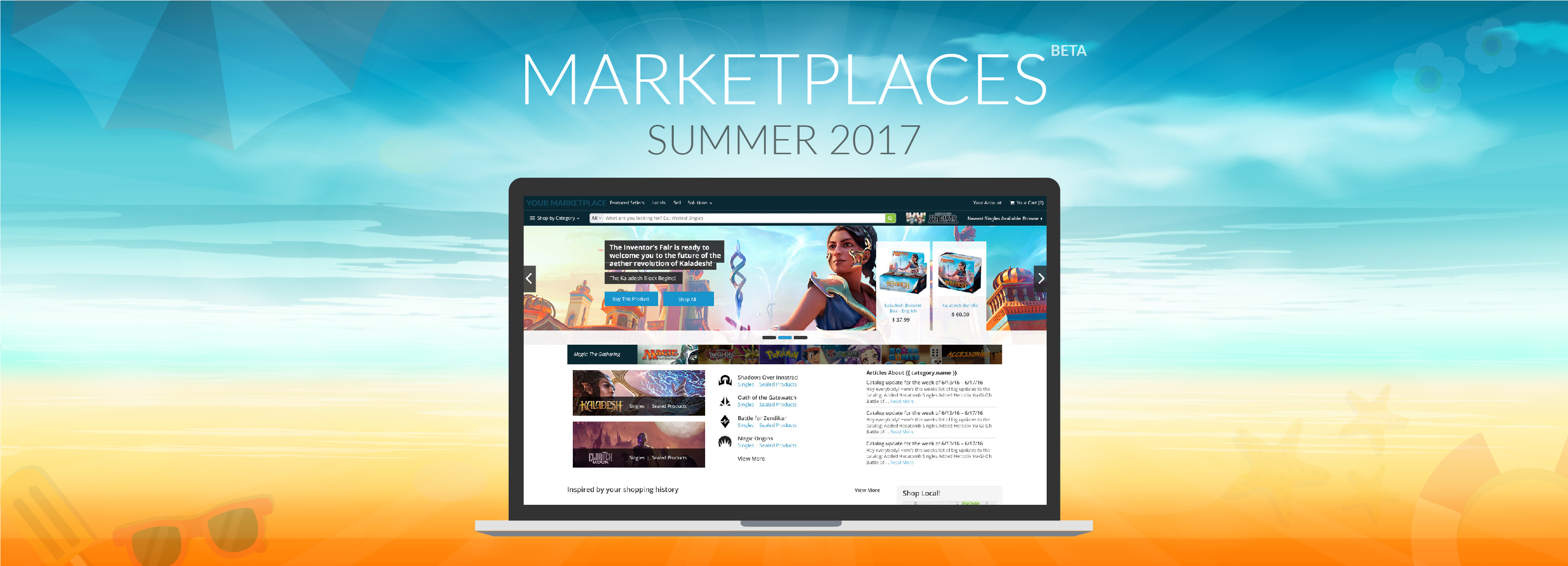 Game and Hobby Marketplaces Releases this Summer 2017
