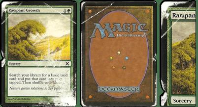 Damaged cards
