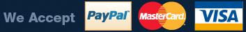 Visa, Mastercard, PayPal